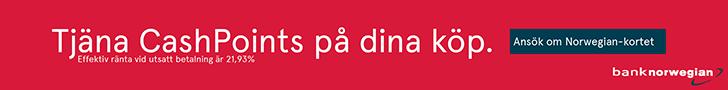 Tjäna cash points med Norwegian-kortet